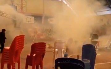 Gases lacrimógenos en una concentración del MAS en El Alto a la que asistió Choquehuanca