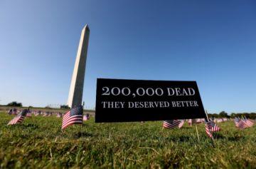 Estados Unidos supera los 200 mil muertos por covid-19