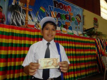 El pago del Bono Juancito Pinto comienza este lunes
