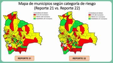 Bolivia: Siete municipios bajan su calidad de riesgo alto esta semana