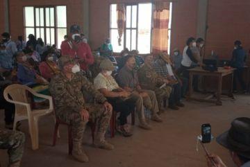 """Ministro de Defensa: el fuego en Macharetí """"aún es controlable"""" y ya afecta a 600 familias"""