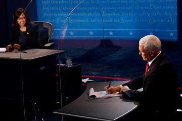 Harris y Pence chocan sobre gestión de Trump de covid-19 en debate por TV