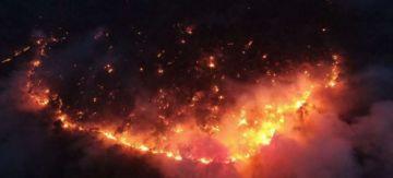 Incendios: Alarma por el santuario Ambue Ari
