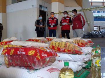 Comienza la entrega de canastas solidarias en Sucre