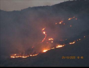 Dos incendios afectan 15 hectáreas del Parque Tunari