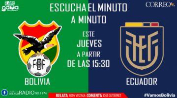 En vivo: Sigue el partido Bolivia-Ecuador