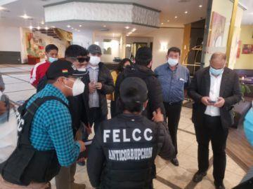 Policía intenta aprehender a dirigentes de la FBF en La Paz