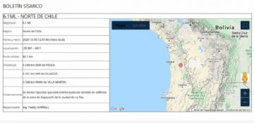 Sismo registrado en el norte de Chile se sintió en La Paz