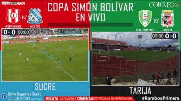EN VIVO:  Inde Vs Vaca Díez & Real Tomayapo Vs Fancesa