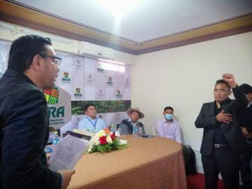 Juan Carlos Quispe jura como nuevo director departamental del INRA