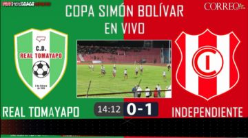 EN VIVO: Primera final Tomayapo Vs Inde
