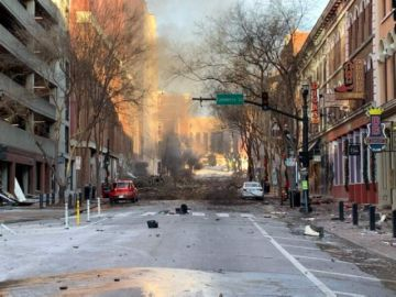 EEUU: Fuerte explosión en Nashville deja al menos tres heridos