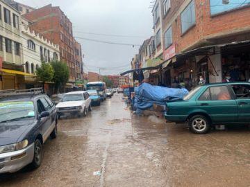 Tres días después de la tormenta, así lucen las calles del Mercado Campesino