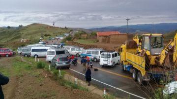 Así transcurrió la primera mitad de jornada del paro del transporte en Chuquisaca