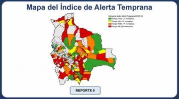 Se incrementan los municipios en riesgo alto de covid-19 en Bolivia
