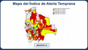 Un centenar de municipios de Bolivia en riesgo alto de contagio de covid-19