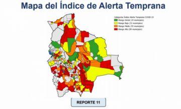 IAT: Reportan 89 municipios en riesgo alto de contagio de coronavirus