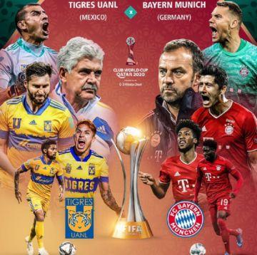 """Mundial: Tigres busca dar el último zarpazo; Bayern va por el """"sextete"""""""
