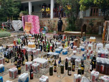 Sucre: 3.000 unidades de bebidas alcohólicas decomisadas y 35 fiestas intervenidas en operativos