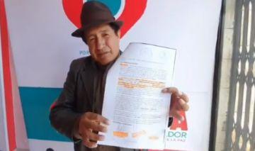 Rafael Quispe fue notificado con la sentencia de dos años de cárcel en San Pedro