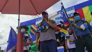 Arce insta a votar por autoridades que coordinen con el Gobierno y promete concluir obras de Evo