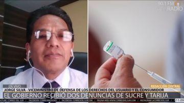 Gobierno investiga denuncias extraoficiales por presunta vacunación irregular en Sucre y Tarija
