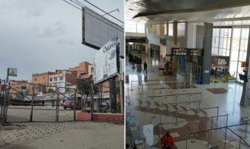 ¿Cómo funcionarán la Terminal de Sucre y el aeropuerto Alcantarí este fin de semana?