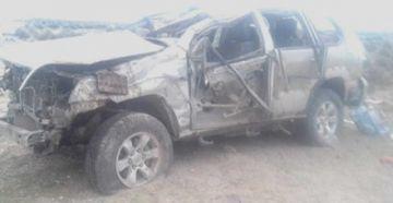 Vuelco de motorizado en la carretera Oruro-Pisiga cobra la vida de tres personas