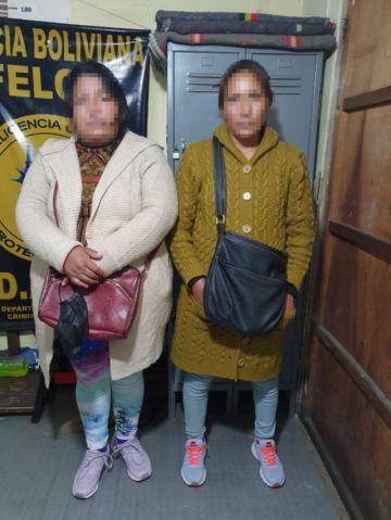 """Caen """"la Gorda y la Flaca"""", acusadas de robar el celular a una niña que pasaba clases virtuales en Potosí"""
