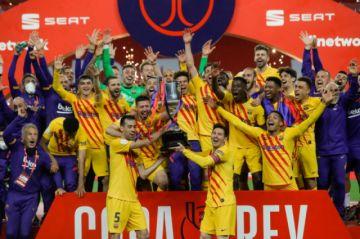 El Barcelona gana la Copa del Rey con goleada 4-0 al Athletic