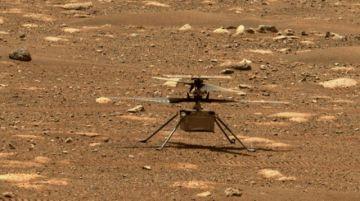 Helicóptero Ingenuity consigue volar con éxito en Marte