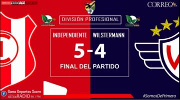 En Vivo: Sigue el partido Independiente Vs. Wilstermann