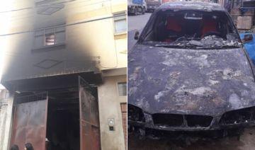 Incendio arrasa con vivienda, vehículo y muebles en Sucre