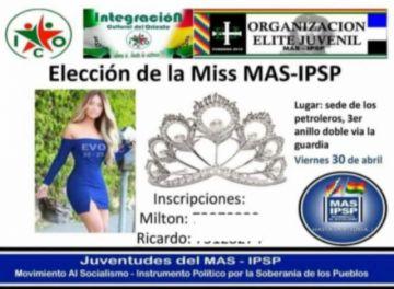 Defensoría del Pueblo repudia convocatoria a elección de Miss MAS-IPSP