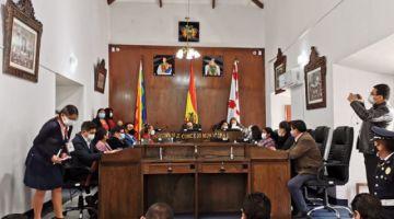 Concejo de Sucre decreta cuarto intermedio en sesión para elegir a su directiva