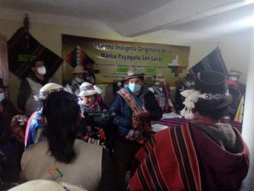 Marka Payaqullu elige a sus representantes al Concejo Municipal de San Lucas