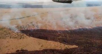 Comisión interinstitucional se despliega a Puerto Suárez para sofocar el fuego en Otuquis