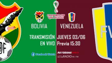 EN VIVO ¡Bolivia 3 - Venezuela 1!