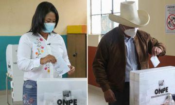 Fujimori y Castillo se pisan los talones en conteo de votos en Perú