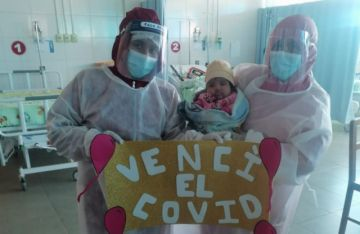 Una bebé de tres meses vence al covid-19 y deja el hospital del Niño