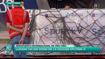 Bolivia recibe 100 mil nuevas dosis de la vacuna rusa Sputnik V