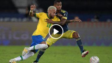 Final del partido: Brasil 2-1 Colombia