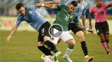 Final del partido: Bolivia 0-2 Uruguay