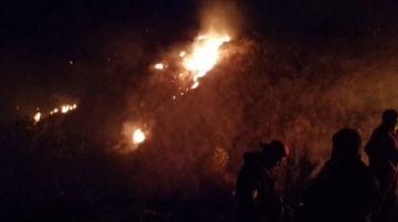 Controlan incendio en Pampa Aceituno; el fuego arrasó cerca de 30 hectáreas de pastizales