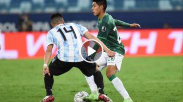Final del partido: Bolivia 1-4 Argentina