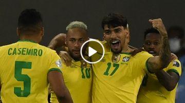 Final del partido: Brasil 1-0Chile