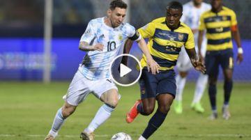 Final del partido: Argentina 3-0 Ecuador