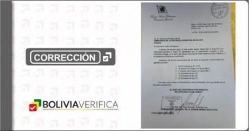 Bolivia Verifica corrige y deja de catalogar a la carta de Terceros como falsa