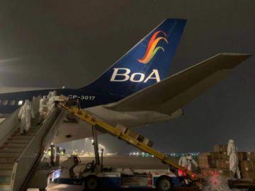 Parte el avión de BoA que transporta 500 mil nuevas dosis de la vacuna china Sinopharm
