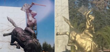 Cuestionan pintado del monumento de Juana Azurduy; Alcaldía anuncia refacción